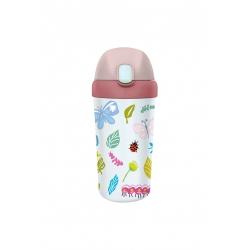 Gourde enfant avec paille 400ml Butterflies - Bioloco Plant Kids Cup