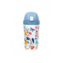Gourde enfant avec paille 400ml Tropical - Bioloco Plant Kids Cup