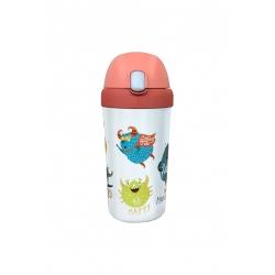 Gourde enfant avec paille 400ml Happy M - Bioloco Plant Kids Cup