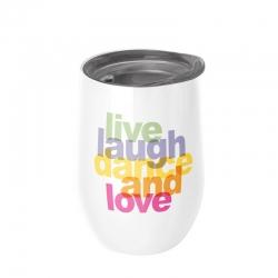 Mug de bureau 420ml Bioloco Office Live, Laugh... - Chic Mic