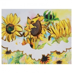 Pochette 10 cartes et 10 enveloppes - Sunflowers