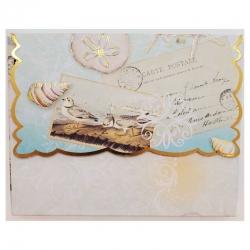 Pochette 10 cartes et 10 enveloppes - Seaside