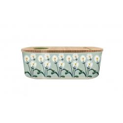 Lunch box 500ml en matiere vegetale Daisies - Bioloco Plant