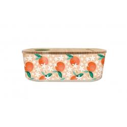 Lunch box 500ml en matiere vegetale Oranges - Bioloco Plant