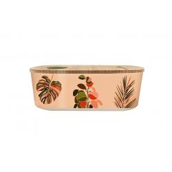 Lunch box 500ml en matiere vegetale Colorful Leaves - Bioloco Plant