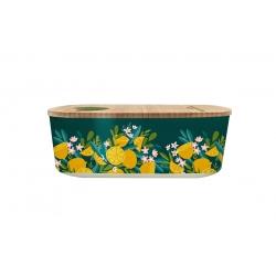 Lunch box 500ml en matiere vegetale Lemons - Bioloco Plant