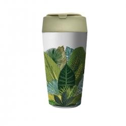 Mug de voyage 420ml en matiere vegetale Exotic Leaves - Bioloco Plant