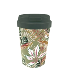 Mug de voyage 350ml en matiere vegetale Leaves - Bioloco Plant