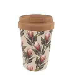 Mug de voyage 350ml en matiere vegetale Proteas - Bioloco Plant