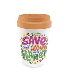 Mug de voyage 350ml en matiere vegetale Love your P - Bioloco Plant