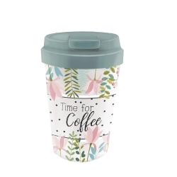 Mug de voyage 350ml en matiere vegetale Time Coffee - Bioloco Plant