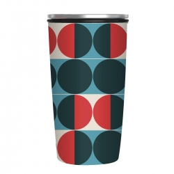Mug à fermeture magnetique 420 ml Modernist Circles - Chic Mic