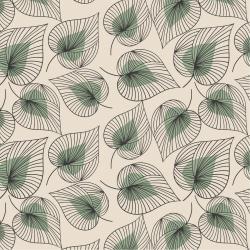 20 Serviettes 100% Bambou 33x33 cm Line art Leaves - Chic Mic