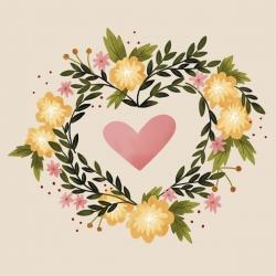 20 Serviettes 100% Bambou 33x33 cm Floral Heart - Chic Mic