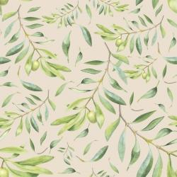 20 Serviettes 100% Bambou 33x33 cm Olives - Chic Mic