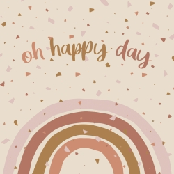 20 Serviettes 100% Bambou 33x33 cm Oh Happy Day - Chic Mic