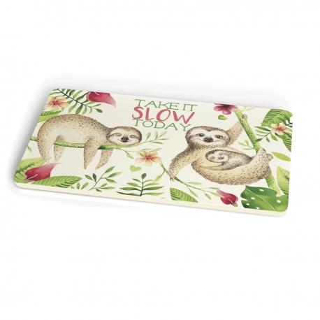Planche a decouper en bambou 23,5 x 14,5 cm Take it Slow - Chic Mic