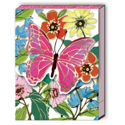 Pocket carnet de notes aimanté - Full Bloom Butterfly