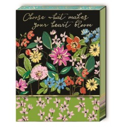 Pocket carnet de notes aimanté - Full Bloom Black