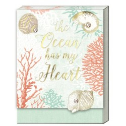 Pocket carnet de notes aimanté - Ocean Heart