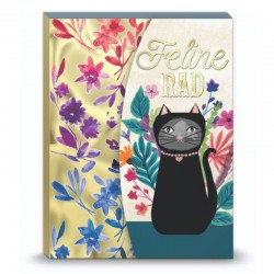 Pocket carnet de notes aimanté - Feline Rad