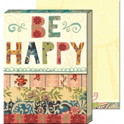 Pocket carnet de notes aimanté - Be Happy Patchwork