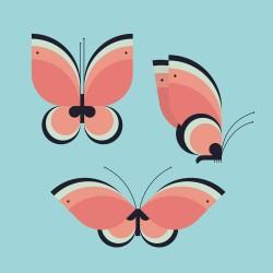 20 Serviettes 100% Bambou 33x33 cm Butterflies - Chic Mic