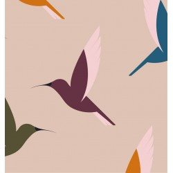 20 Serviettes 100% Bambou 33x33 cm Hummingbirds - Chic Mic