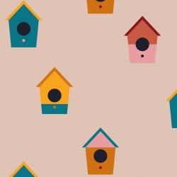 20 Serviettes 100% Bambou 33x33 cm Birds House - Chic Mic