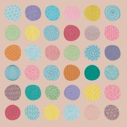20 Serviettes 100% Bambou 33x33 cm Dots - Chic Mic