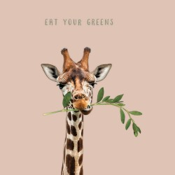 20 Serviettes 100% Bambou 33x33 cm Eat your Greens - Chic Mic