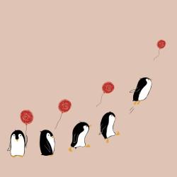 20 Serviettes 100% Bambou 33x33 cm Penguins - Chic Mic