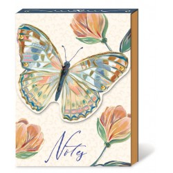 Pocket carnet de notes aimanté - Florette Butterfly