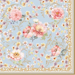 20 serviettes en papier - Majestic Flowers