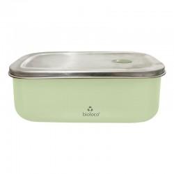 Lunchbox 500ml en acier inoxydable Light Green - Bioloco Sky