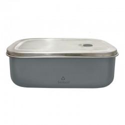 Lunchbox 500ml en acier inoxydable Night Grey - Bioloco Sky