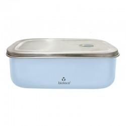 Lunchbox 500ml en acier inoxydable Light Blue - Bioloco Sky