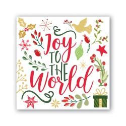 Pochette de 20 serviettes carrées - Joy to the World