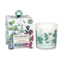 Bougie Parfumée 184 g et boîte cadeau - Eucalyptus & Mint