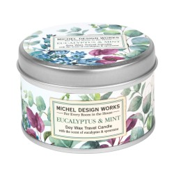 Bougie parfumée 113g en boîte métal - Eucalyptus & Mint