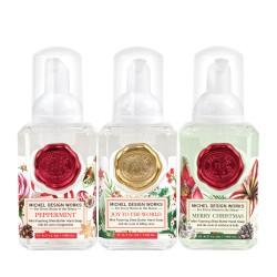 Set de 3 savons moussants 140 ml - Peppermint/Merry Christmas/Joy