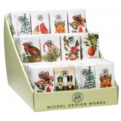 Présentoir pré-rempli 60 paquets mouchoirs en papier Noel