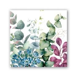 Pochette de 20 serviettes carrées - Eucalyptus & Mint