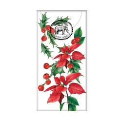 Paquet de 10 mouchoirs en papier - Poinsettia
