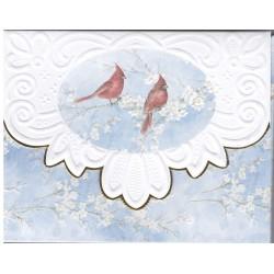 Pochette 10 cartes et 10 enveloppes Noel - Red Cardinal
