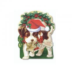 Boite rectangulaire découpée Noel - Vintage Star Puppy