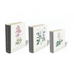 Set de 3 boîtes livres gigognes GM - Botanical Prints
