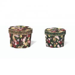 Set de 2 boîtes cannelures gigognes - Rose Fresco