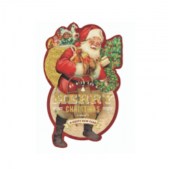 Boite rectangulaire découpée Noel - Classic Gift Santa