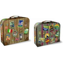 Set de 3 valises rectangulaires gigognes MM - Vintage Travels